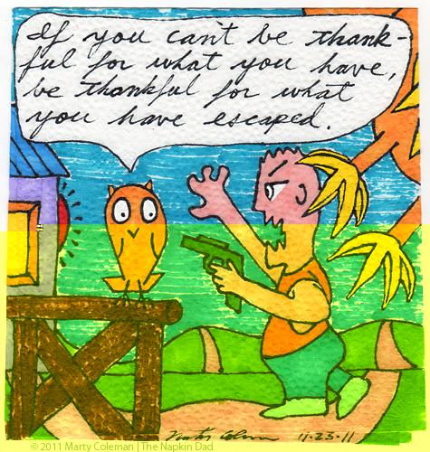 gratitude of escape