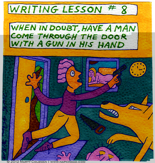 Writing Lesson #8 - Man with a Gun