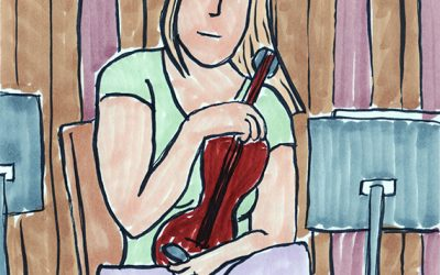 I Draw in Church – Four Violinists